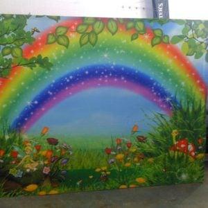 Rainbow Banner Wall