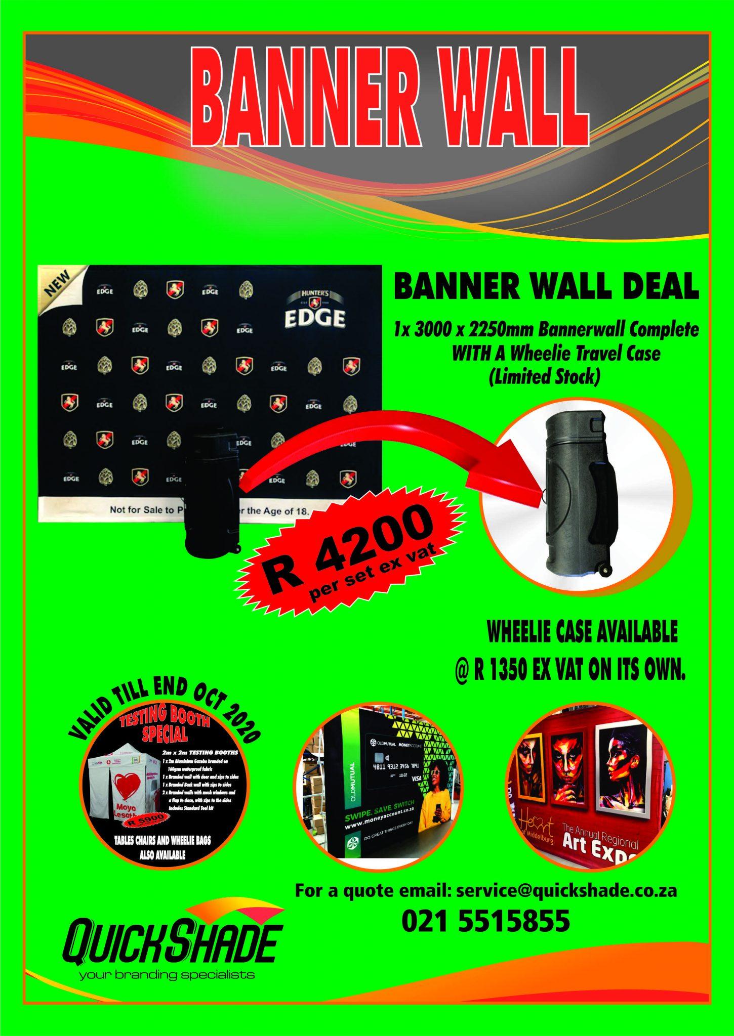 Quickshade Banner walls Promotion